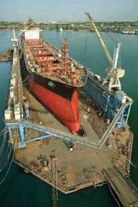 Ильичевский судоремонтный завод завершил доковый ремонт балкера «Alina»