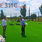 Сказано-сделано: в Беляевском районе на финальной стадии строительство спортивной площадки (Фото)